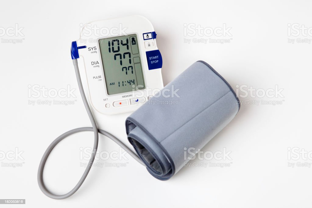 Blood pressure monitor to watch ones health stock photo