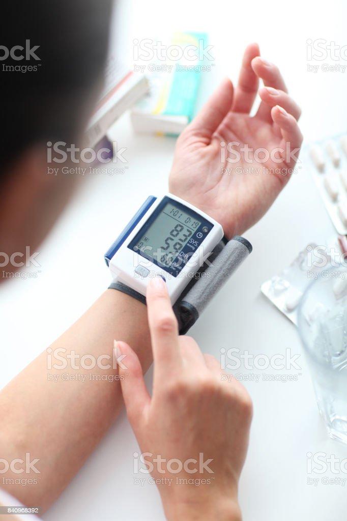 Blood pressure. stock photo