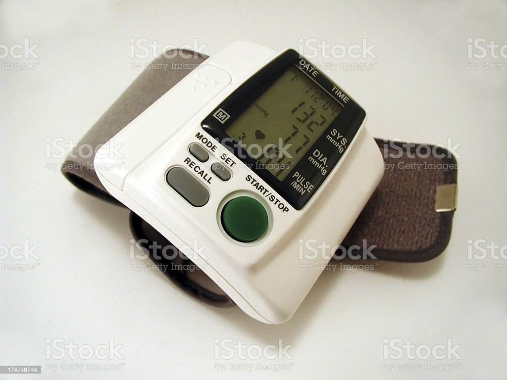 Blood pressure reader royalty-free stock photo
