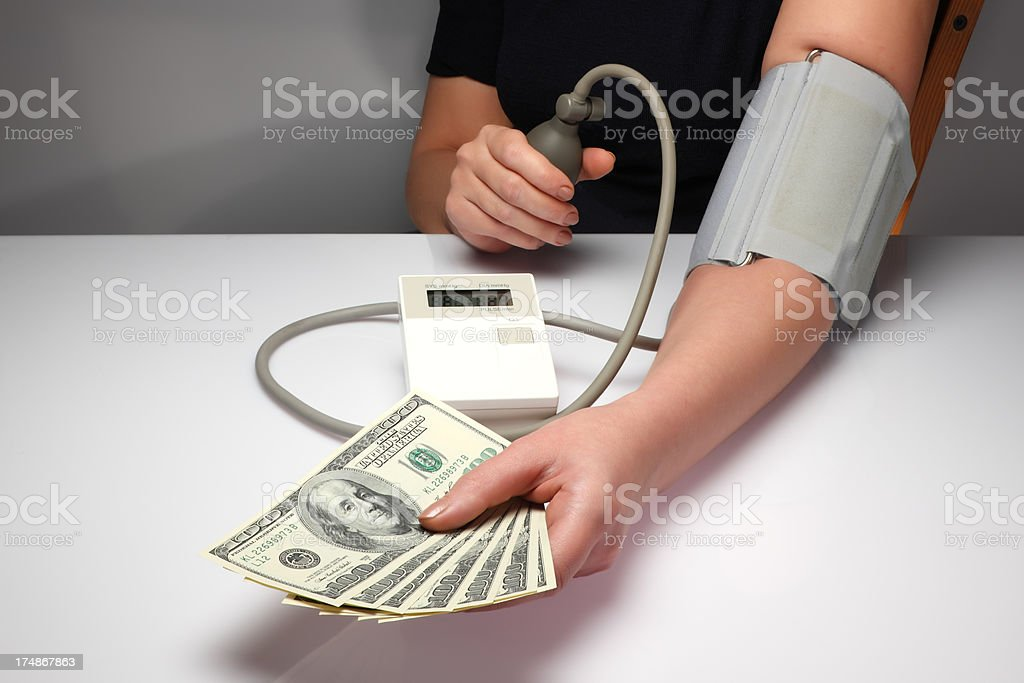 Blood pressure reading royalty-free stock photo