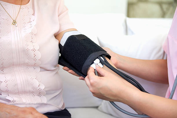 Blood pressure reading stock photo