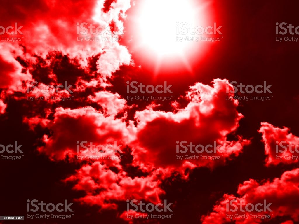 13 76- Blood Red Eclipse stock photo