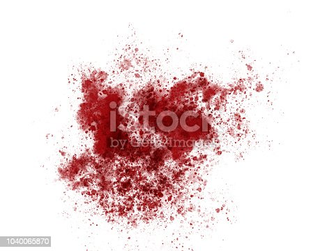 172646637 istock photo Blood red paint ink splatter sample 1040065870
