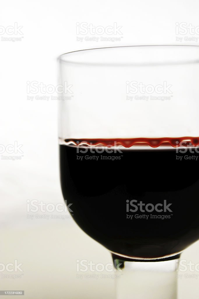 Blood Red Wine stock photo
