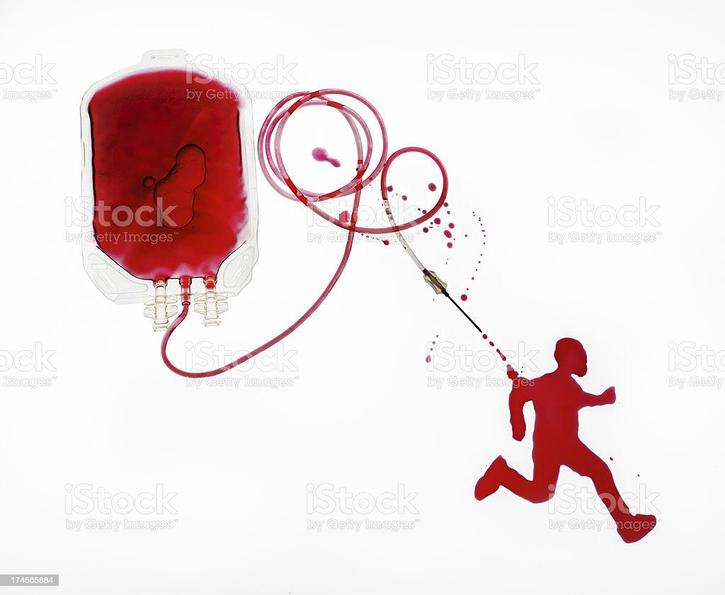Blood Runner royalty-free stock photo