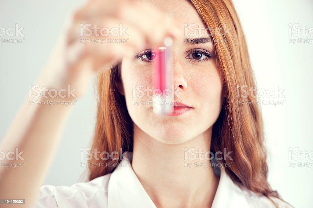 Blood sample stock photo