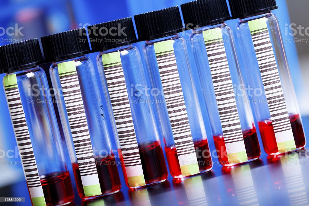 Blood samples royalty-free stock photo