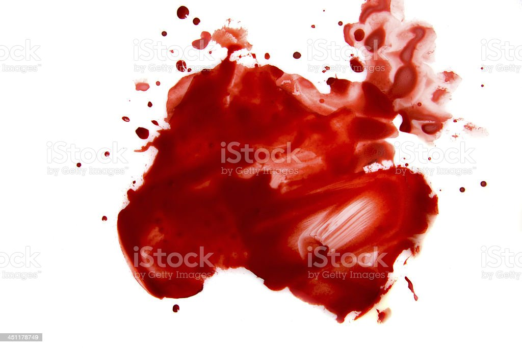 Blood smear splatter stock photo