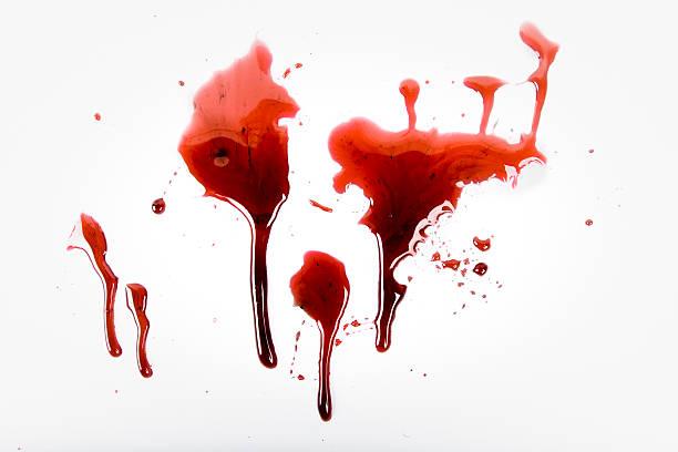 Blood Spat stock photo