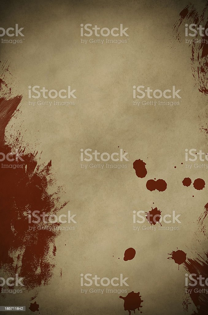 Blood Spattered Parchment stock photo