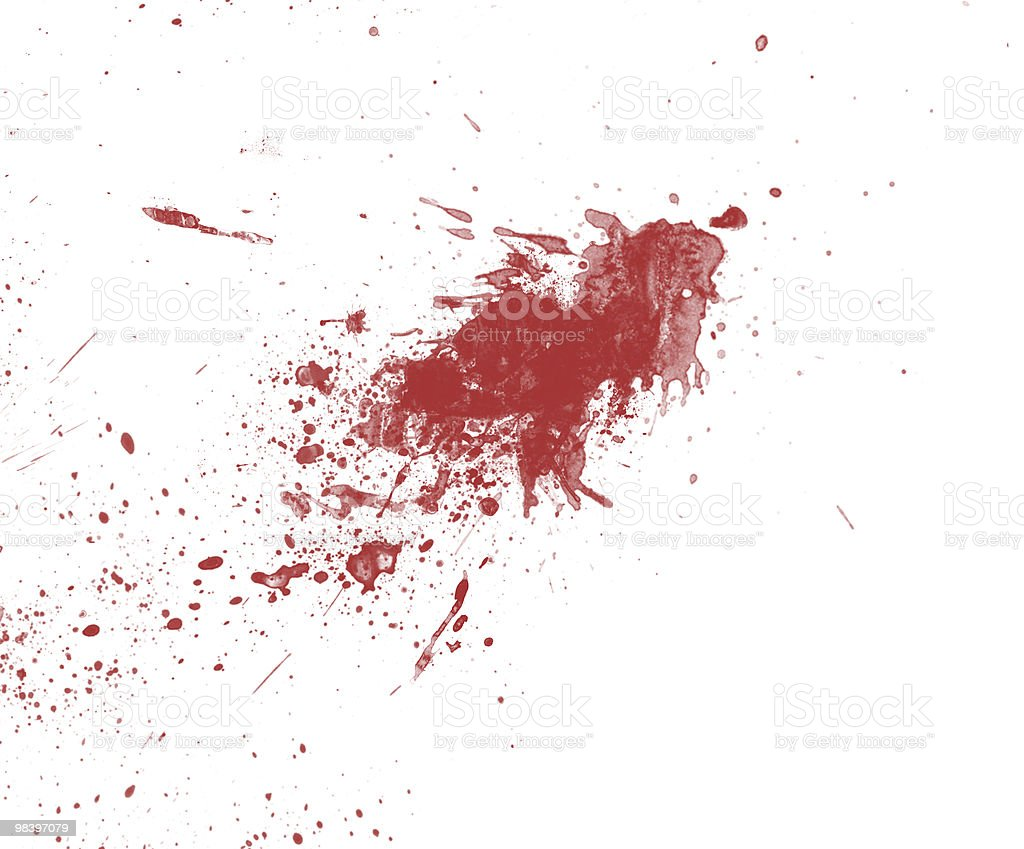 Blood Spilling royalty-free stock photo