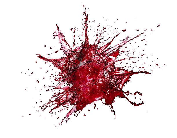 blood Splash Isolated stock photo