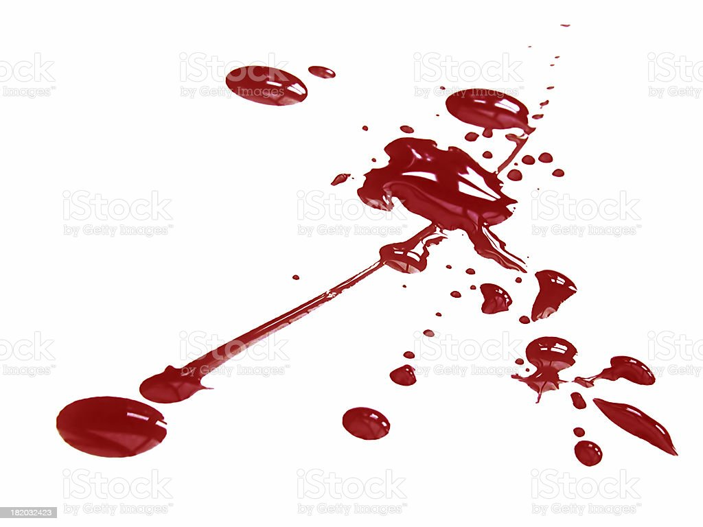 Blood splat 2 royalty-free stock photo
