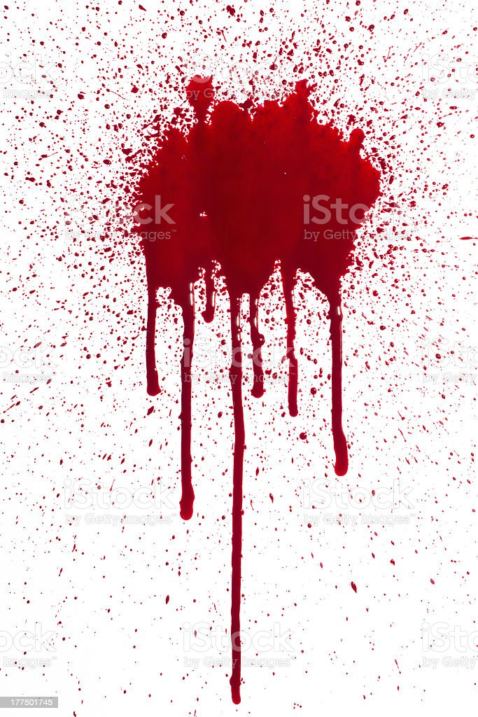 Blood splat and drip stock photo
