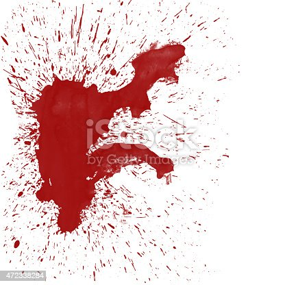 172646637 istock photo Blood Splat on White 472338284