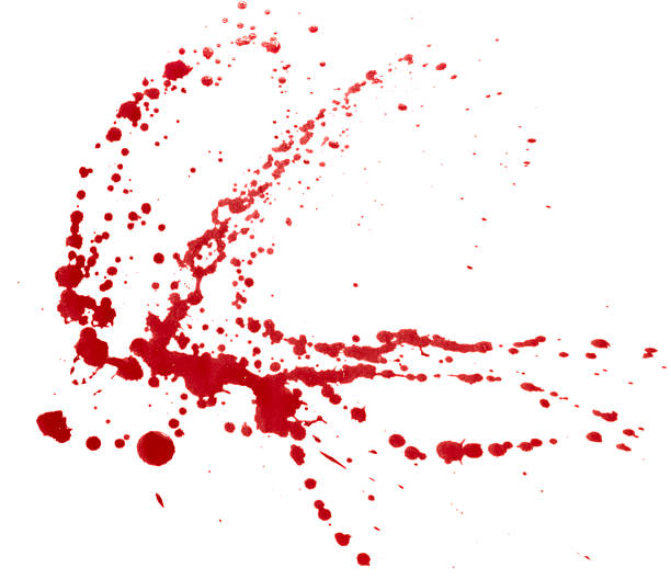 Blood splatter isolated. Clipping path.​​​ foto