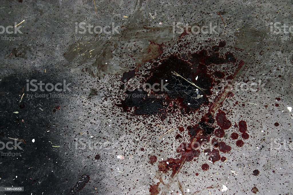 Blood Stain stock photo