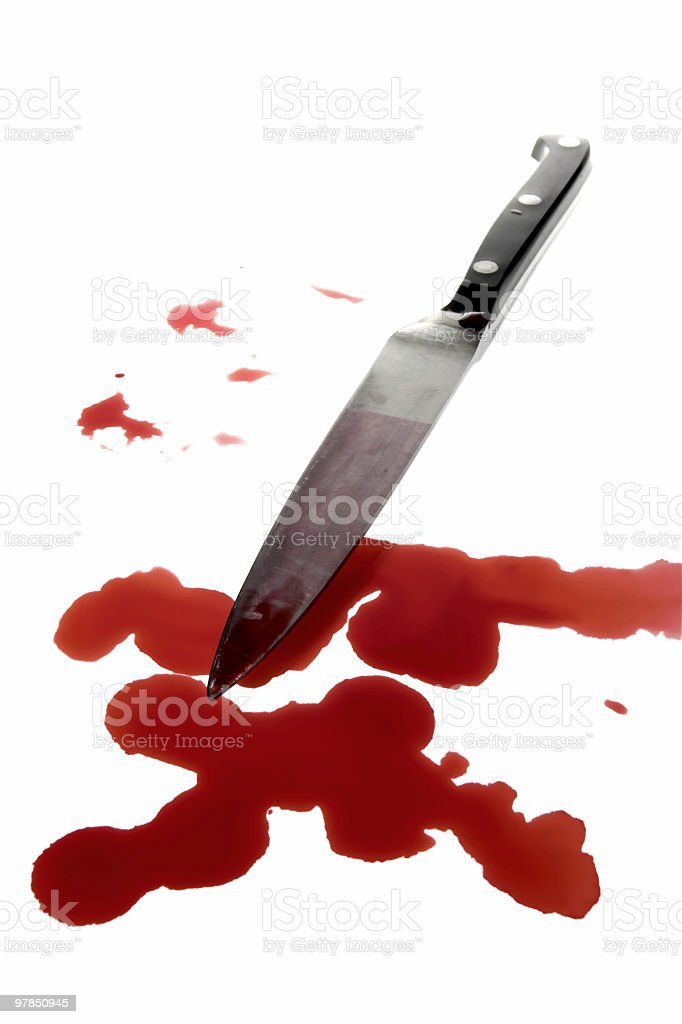 Blood Stained Murder Weapon stock photo