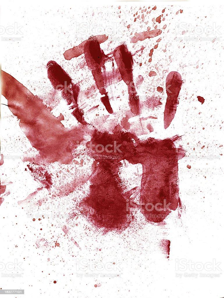 Blood stains (XXL) stock photo