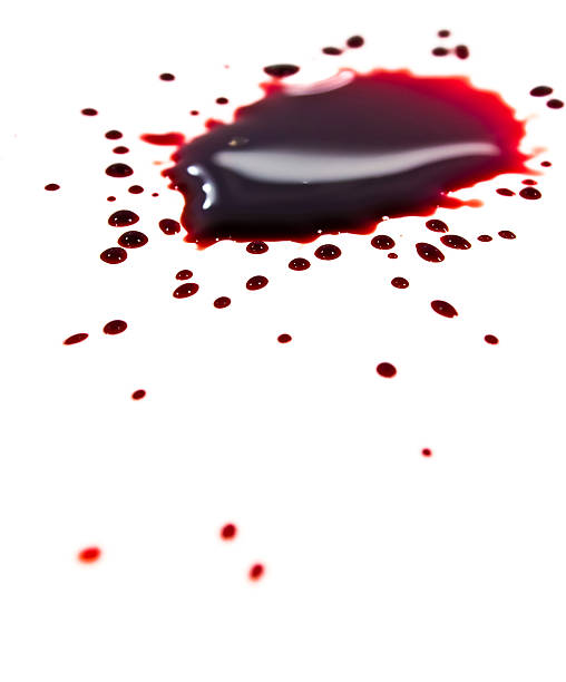 Blood stains (puddle) stock photo
