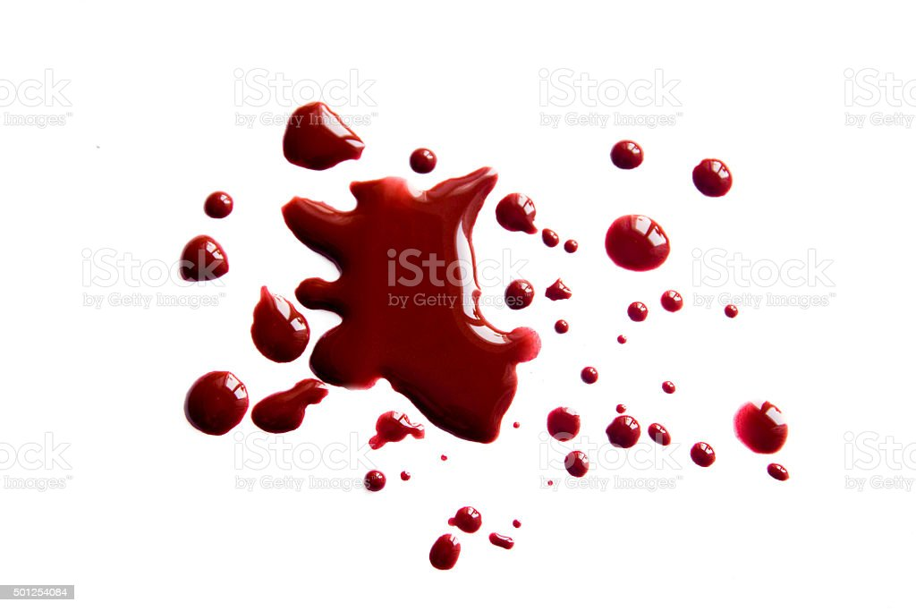 Blood stains (droplets) stock photo
