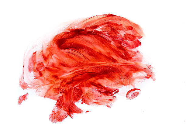 Blood stains (puddle, smear) stock photo