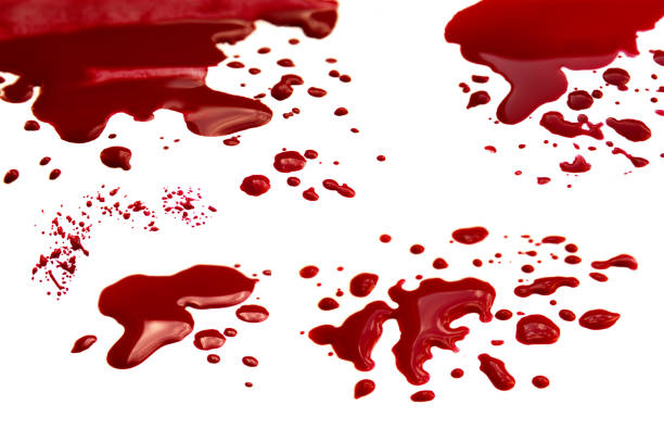 Blood stains set stock photo