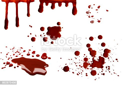 172646637 istock photo Blood stains set 852875456