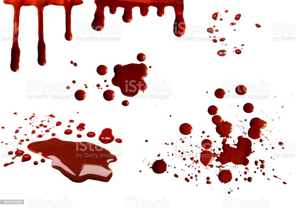 Conjunto de manchas de sangre - foto de stock