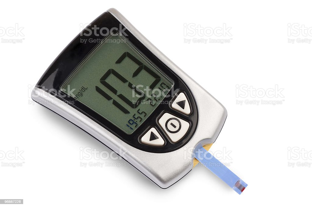 Blood sugar level stock photo