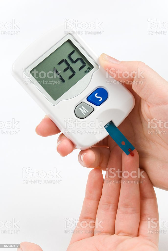 Blood Sugar Test stock photo