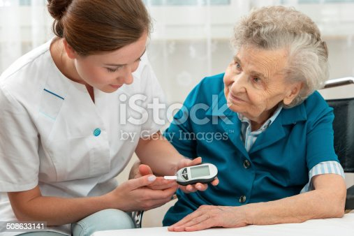 istock Blood sugar test 508633141