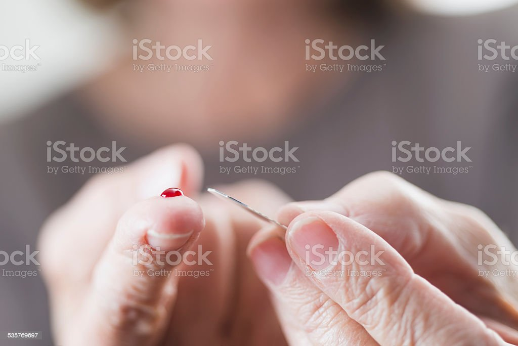 Blood sugar test stock photo