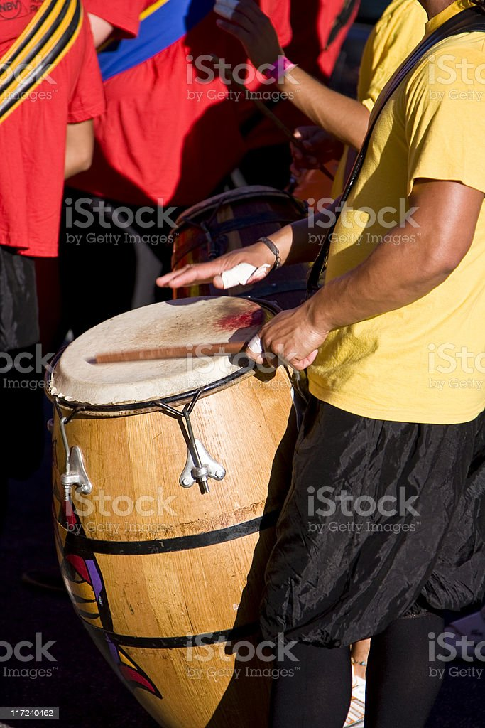 Blood, Sweat and Drums royalty-free stock photo