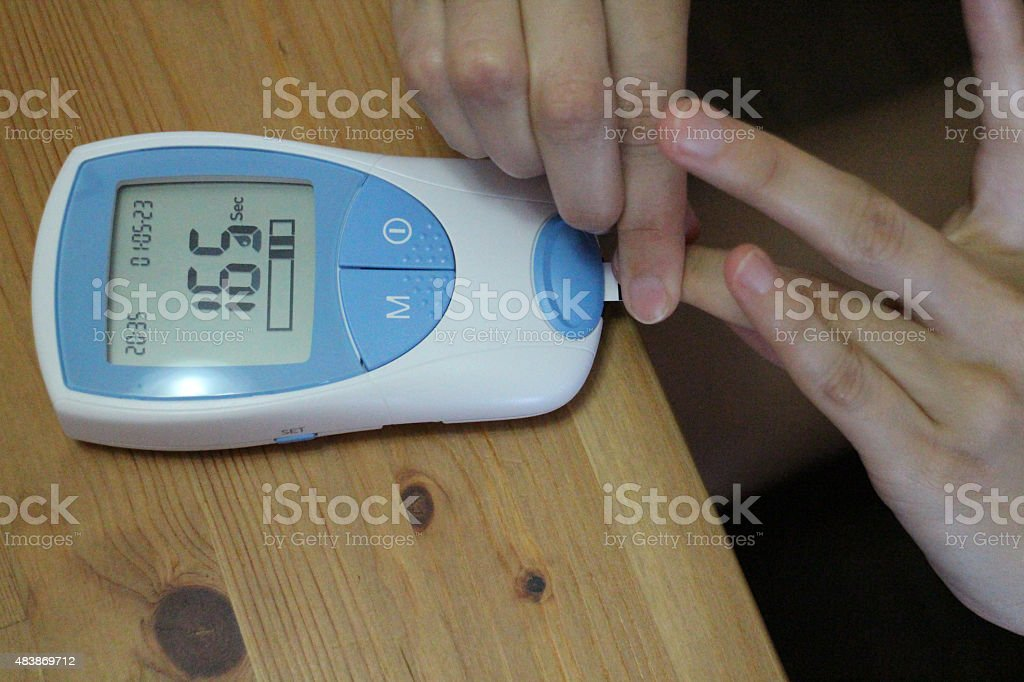 Blood Test for International Normalized Ratio INR stock photo