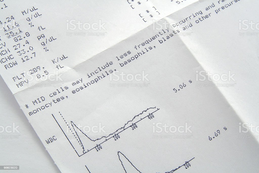 blood test results royalty-free stock photo