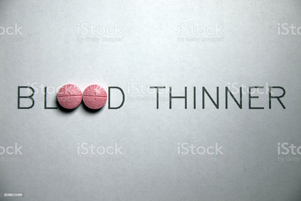 Blood Thinner Abstract stock photo