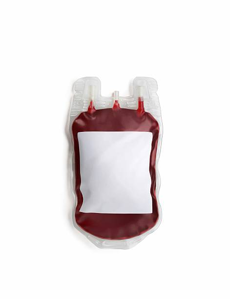 Blood Transfusion bag stock photo