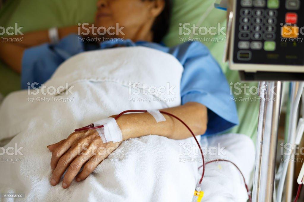 Blood transfusion stock photo