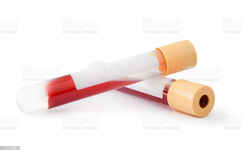 Blood Tubes stock photo