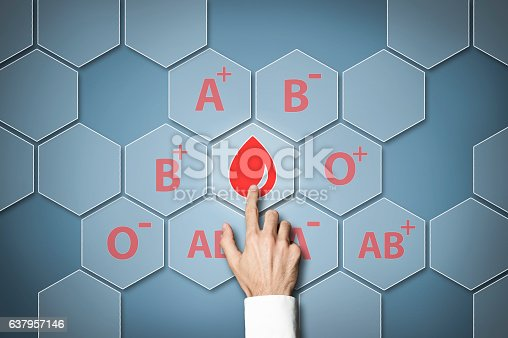 istock Blood type / Touch screen concept (Click for more) 637957146