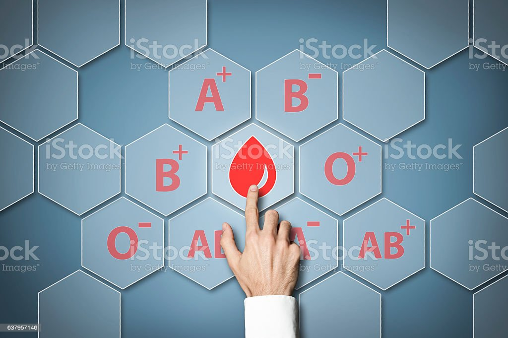 Blood type / Touch screen concept (Click for more) - foto de acervo