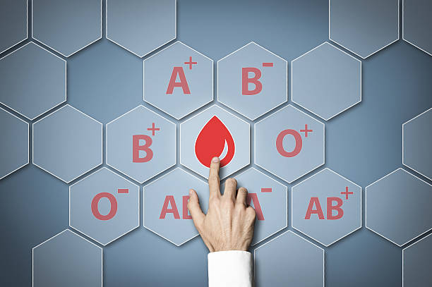 Blood type / Touch screen concept (Click for more) stock photo