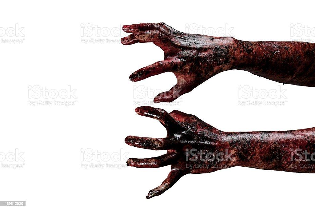 Blut zombie Hände, zombie Thema, halloween-Motiv – Foto