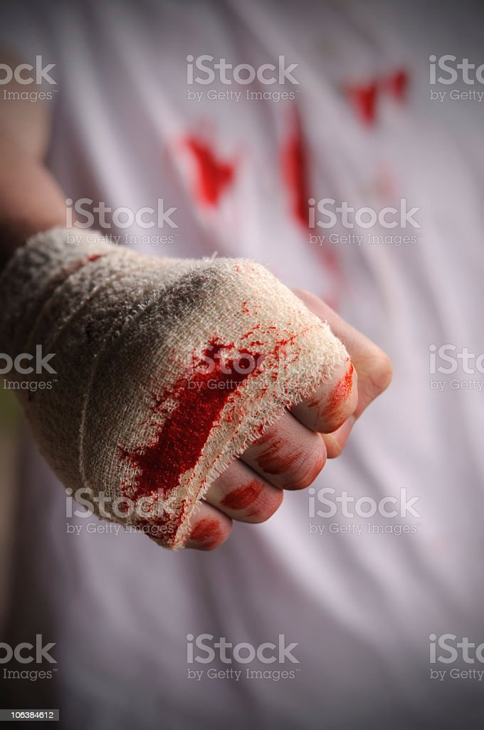 Blooded Fist stock photo