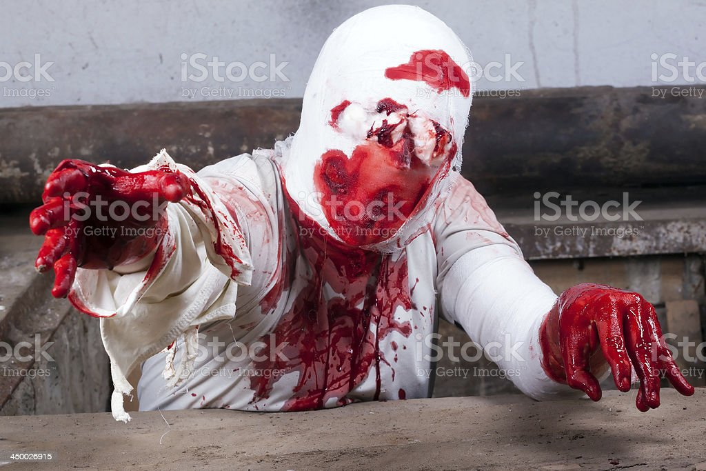 bloodied bandages zombie royalty-free stock photo