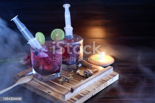 istock Bloodshot berry cocktail in party 1054304440