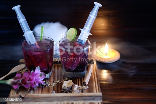 istock Bloodshot berry cocktail in party 1054304520