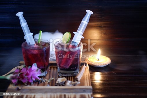 istock Bloodshot berry cocktail in party 1054304588