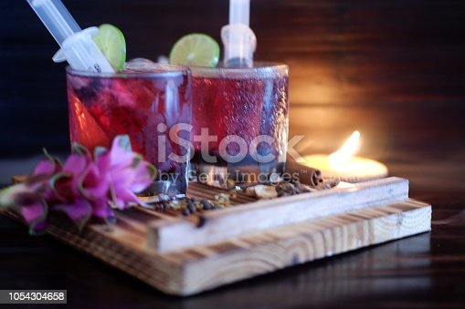 istock Bloodshot berry cocktail in party 1054304658